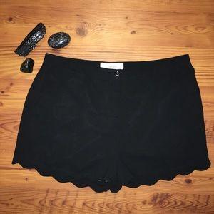 Scalloped Edge Dress Shorts